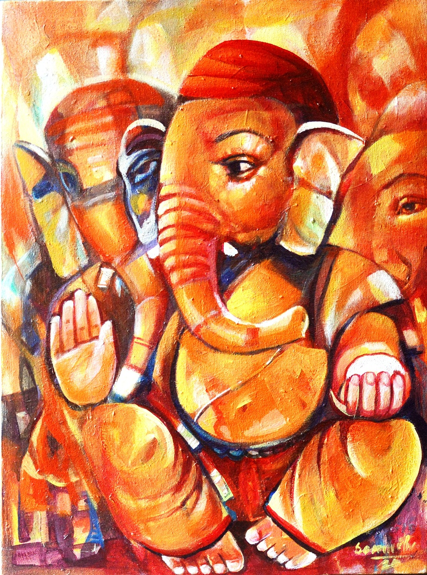 My paintings like 'Shidhhidata Ganesha' depicts positive energy and that god is always there and will always help us to overcome tough situation