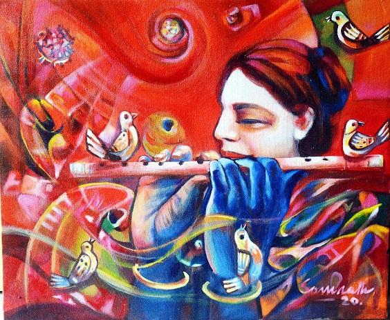 Message by Krishna's flute