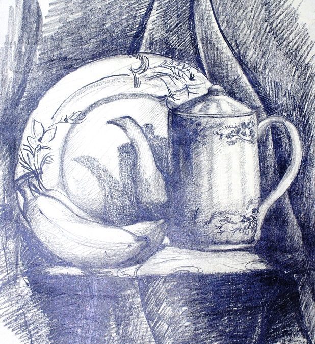 Title-Still Life by pencil