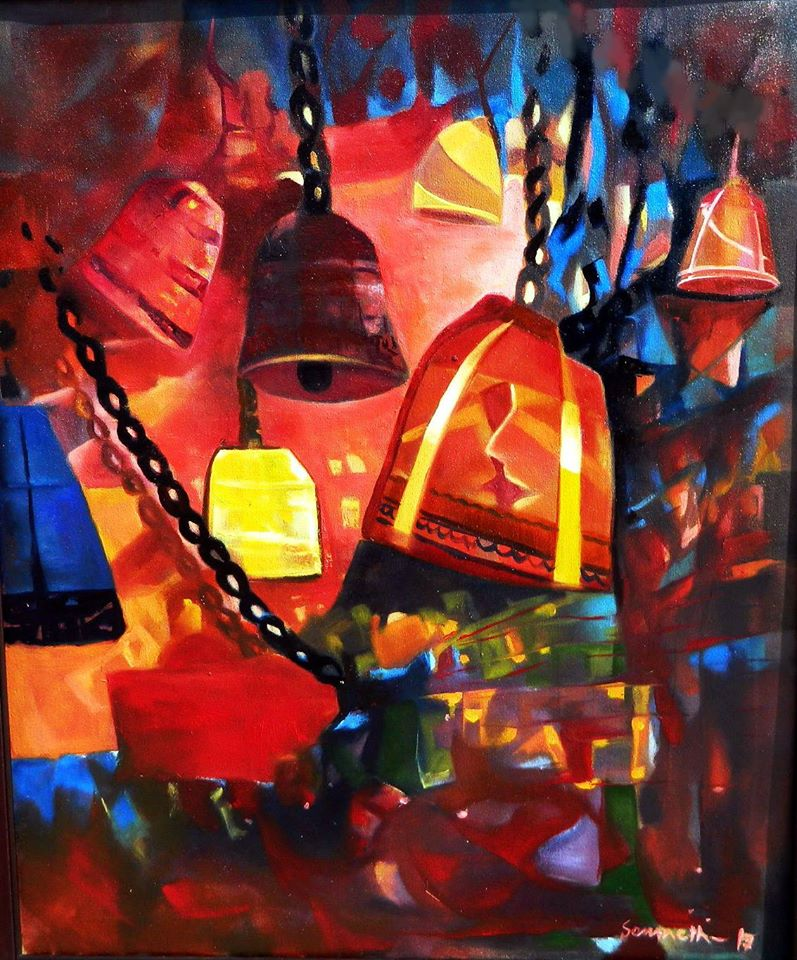 Ghanta,Oil on Canvas