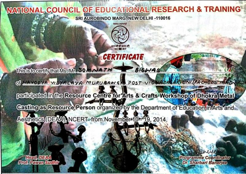 Dokra -Resource Person at NCERT,New Delhi